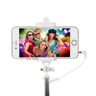 Mini Selfie Monopod w/ 3.5mm Cable for 5.5~8.5cm Phone - Deep Pink