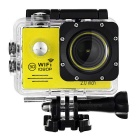 "12MP CMOS Wide Angle 1080P Sports Camera DV w/ 2.0"" LTPS, TF, Wi-Fi - Yellow + Gun Black"