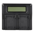 "3"" Display Screen Dual Digital Battery Charger for Canon LP-E8 - Black (US Plug)"