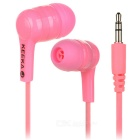 KEEKA Universal Wired 3.5mm Plug In-Ear Earphone Headphone for IPHONE / Samsung + More - Pink