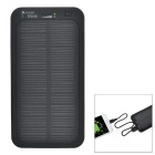 "S-What Matte USB 3.7V ""5000mAh"" Li-polymer Battery Solar Power Bank - Black"