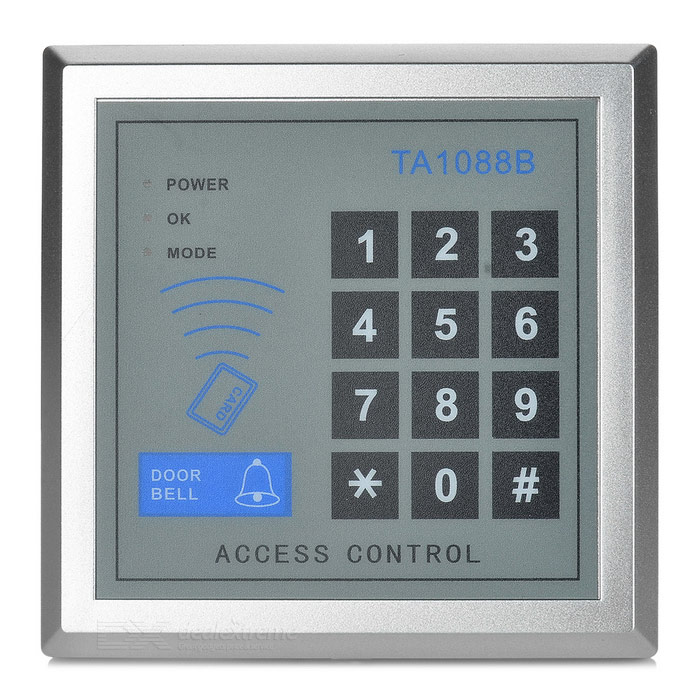 ID Card Touch Sensing Door Access Control System - Silver + Grey