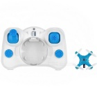 D1 2.4GHz 4-CH 6-Axis Gyro Mini R/C Quadcopter w/ LED Lamp - Blue + White