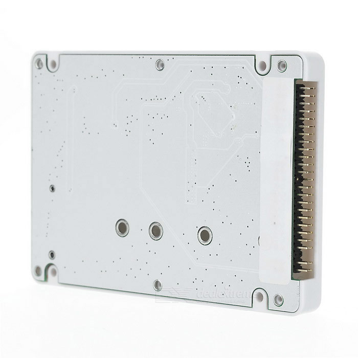 "M.2 NGFF SSD to 2.5"" IDE Enclosure Case - White + Green"