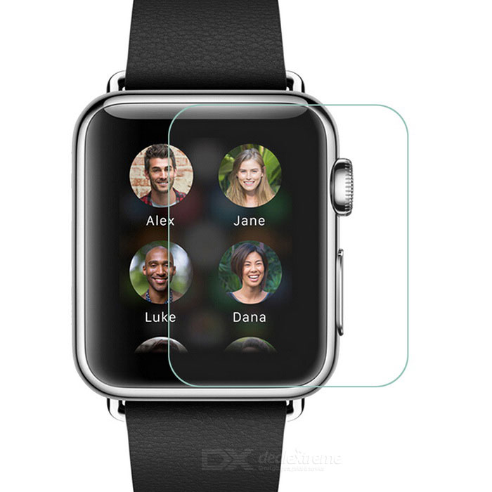 Vidrio temperado película de pantalla de marcación para APPLE WATCH 42mm - transparente