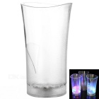 Water Sensing Colorful Light Acrylic Vase Style Cup - Transparent (2 x CR2025 / 400ml)