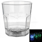 Water Sensing Colorful Light Acrylic Octagon Cup - Transparent (2 x CR2025 / 300ml)