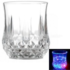 Water Sensing Colorful Light Acrylic Pineapple Style Cup - Transparent (2 x CR2025 / 300ml)