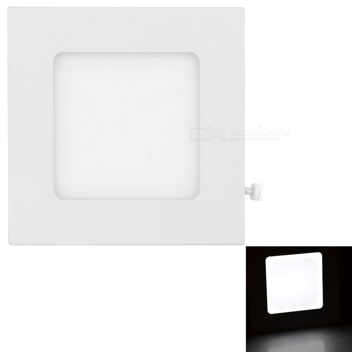 4W LED Square Ceiling Light White 6000K 300lm 20-SMD w/ Driver - White