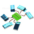 X6A-A04 6-600mAh Batteries + 1-to-6 Charger + TOL Converter + Charger + Data Cable Set - Green