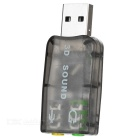 USB 2.0 Sound Card Adapters - Silver + Multi-Colored (5PCS)