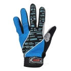 MOke Anti-Shock Touch-Screen Full-Finger Cycling Gloves - Blue (M)