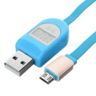 USB 2.0 / Micro 5pin Flat Current Voltage Test Cable for Samsung (1m)