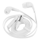 3,5 mm Jack Plug cable plano auricular In-Ear auriculares - blanco