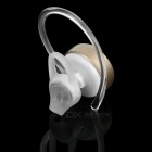 Cwxuan Bluetooth V4.0+EDR Voice Prompt Earphone w/ Mic- Champagne Gold