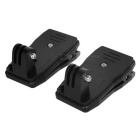 Adjustable Backpack Clip for GoPro Hero 4 / 3+ / 3 / 2 / SJ 4000 Bag - Black (2PCS)