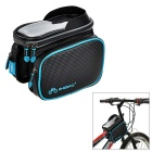 "INBIKE IB295 6"" Bike Top Tube Saddle Bag w/ Phone Case for IPHONE 6 PLUS & More - Black + Blue"