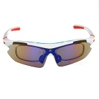CTSmart SP0890 Windproof Polarized Sunglasses Goggles - White + Red