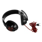 SENICC G121 3.5mm Headband Headphone w/ Mic, Remote - Black + Red