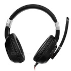 SENICC G121 3.5mm Plug Wired Headband Headphone w/ Mic / Remote - Black + Red