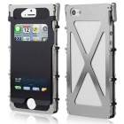 ARMOR KING Sports Aluminum Alloy Full Body Case w/ Dual Windows for IPHONE 5 / 5S - Silvery Black
