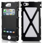 ARMOR KING Sports Aluminum Alloy Full Body Case w/ Dual View Windows for IPHONE 5 / 5S - Black