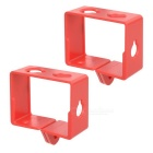Portable Protective Plastic Side Frame for Xiaomi Xiaoyi - Red