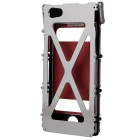 ARMOR KING Full Case w/ 2 View Windows for IPHONE 5/5S - Silver + Red