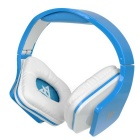 VYKON MQ-99 Headband Headphone w/ Mic - Blue + White
