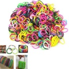 Rainbow DIY Rubber Band Weaving Bracelets - White + Red + Multi-Colored