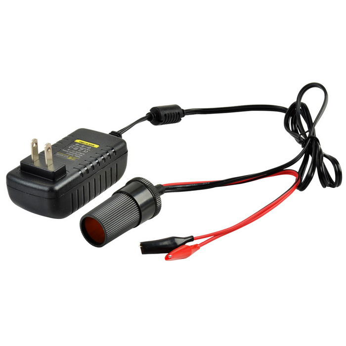 DC 12V / 2000mA US Plug Car Power Adapter w/ Alligator Clips - BlackCar Cigarette Lighter<br>Form  ColorBlackModelN/AQuantity1 pieceMaterialABS + electronic componentsShade Of ColorBlackInput VoltageOthers,100~240 VOutput Voltage12 VSocket Output Current2 AUSB Output VoltageNo VOutput CurrentNo ACable Length108 cmPacking List1 x Adapter (108cm, 22.5cm, 22.5cm)<br>