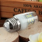 E27 3.5W LED Corn Lamp Cold White Light 400lm 6500K 30-SMD - White