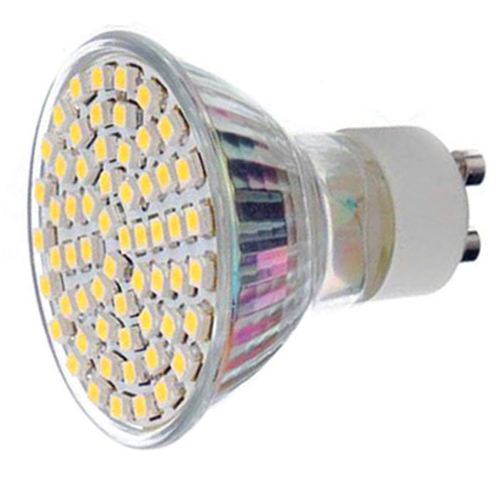 GU10 4.5W LED Bulb Lamp Warm White Light 3000K 450lm 60-SMD (220~240V)