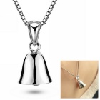 eQute 925 Sterling Silver Cute Simple Bell Pendant Necklace for Women - Silver