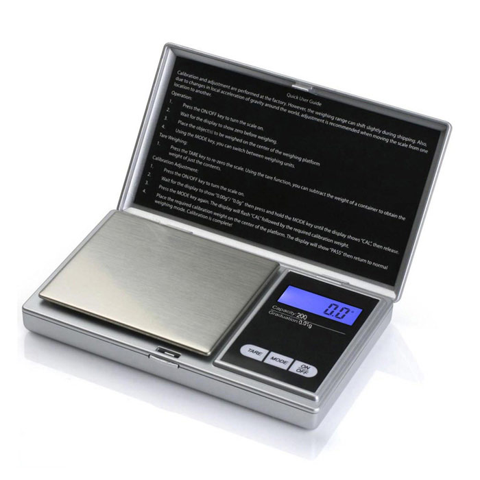 "Prointxp PMST-200 1.4"" Screen Pocket Jewelry Scale (200g / 0.01g)"