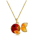 Small Carp Style Crystal Necklace for Women - Gold