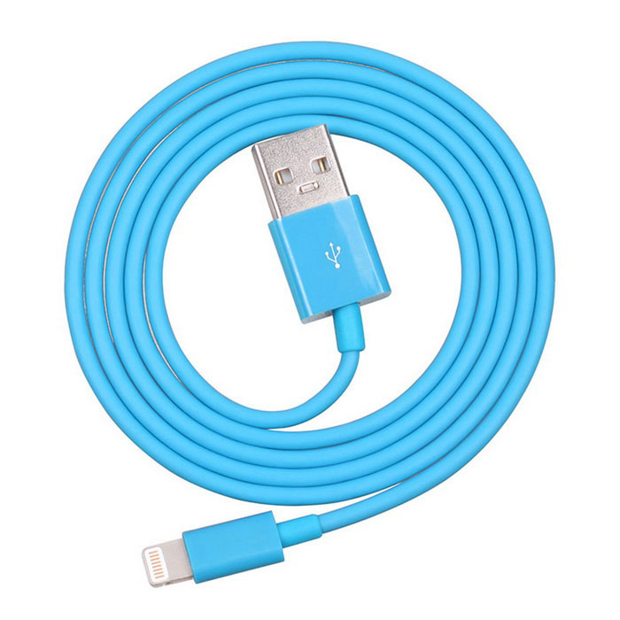 Yellowknife Lightning USB Charging Cable for IPHONE 5 - Blue (1m)