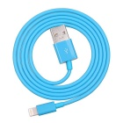 Yellowknife MFi USB Male to Lightning 8-Pin Male Data Charging Cable for IPHONE 5/5S/5C - Blue (1M)