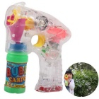 Electric Flashing Music Bubble Gun - Transparent + Green
