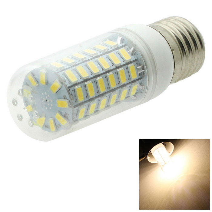 HONSCO E27 6W LED Corn Bulb Lamp Warm White 450lm 69-SMD Clear Cover