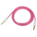 3.5mm M-M Audio Connection Cables - Translucent Pink (100cm / 4 PCS)