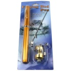 Stainless Steel Fish Wheel Pen Sea Fishing Rod - Golden + Silver