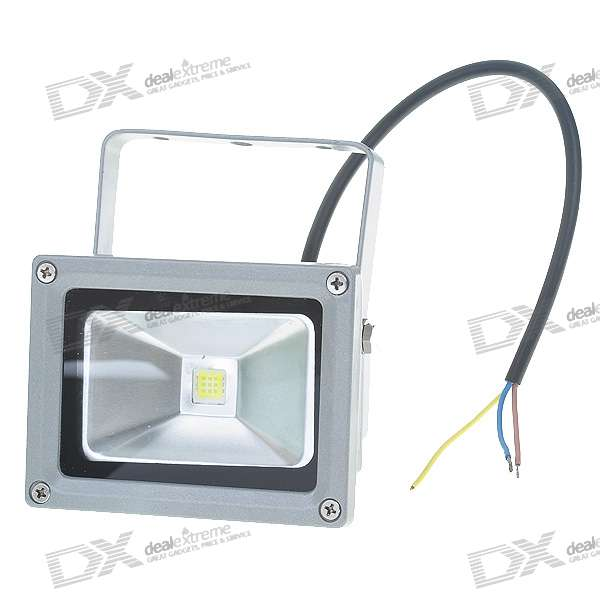 10W 900LM 6000K Cold White Light LED Waterproof Spotlight (85~265V AC)