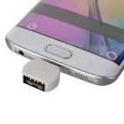 Micro USB M to USB F OTG Adapters for Android Phone - White (3PCS)