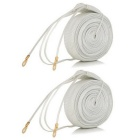 220V 220W Fiber + Copper Wire Heating Cable - White (200cm / 2 PCS)