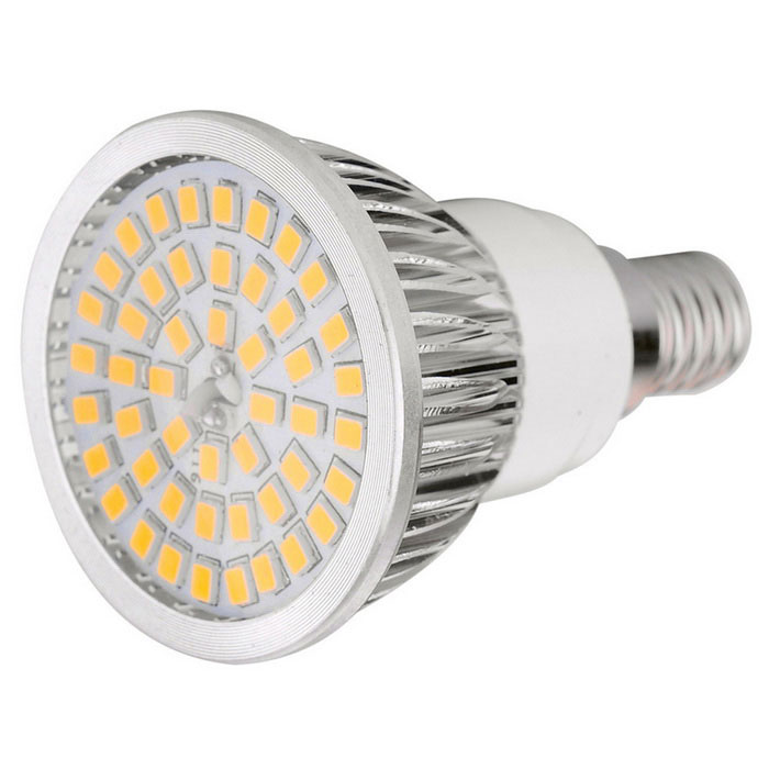 E14 7W LED Spotlight Bulb Lamp Warm White 3000K 48-SMD (AC 100~240V)