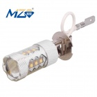 MZ H3 80W 16-XT-E LED Car Front Foglamp White Light 6500K 4000lm w/ Constant Current (12~24V)