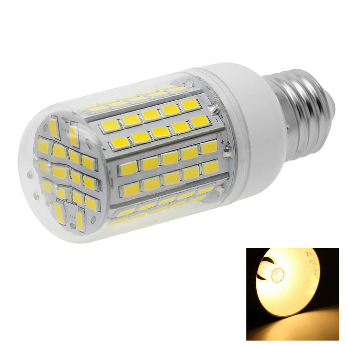 HONSCO E27 8W LED Clear Cover Corn Bulb Light Warm White 600lm 96-SMD