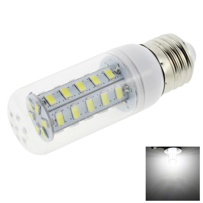 HONSCO E27 4W LED Corn Bulb Lamp Cold White Light 36-SMD Clear Cover