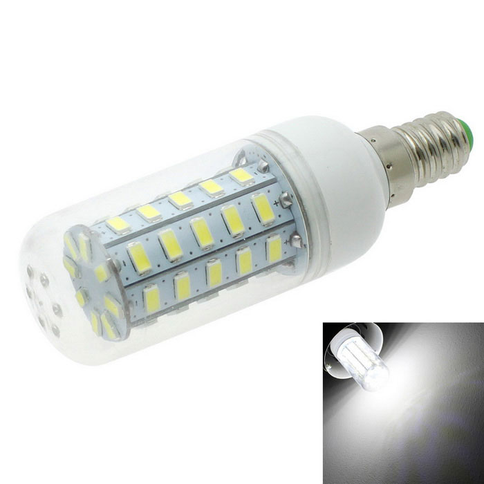 HONSCO E14 4.5W LED Clear tapa maíz lámpara Cool blanco 6500 K SMD 48